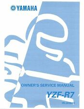 Yamaha owners service manual 1999 YZF-R7