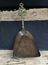 Vintage brass fire shovel, fireplace tools, nautical, rustic