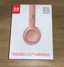 Beats by Dr. Dre Solo 3 Wireless Headphones Rose Gold Factory Sealed NEW