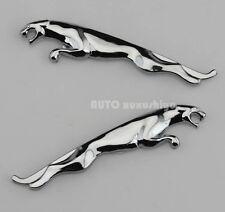 2pcs Auto Metall Schriftzug Aufkleber Emblem Plakette für Jaguar XJ XK XF F-Type