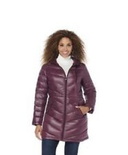 Curations Caravan Down Coat / Long Jacket Packable with Hood Purple Size: XS NWT