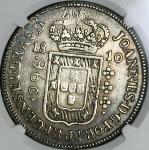1810-B NGC XF 45 Brazil 960 Reis Overstruck Bolivia 8 Reales 1807 Coin 21011202C