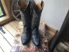 Old Gringo DiFama Black Studded Boots, Size 7, NIB