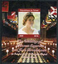 Chad Royalty Stamps 2018 MNH Princess Eugenie & Jack Royal Wedding 1v M/S II