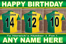 NORWICH CITY FAN 'DRESSING ROOM' Personalised Birthday Card ANY NAME/AGE!