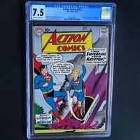 ACTION COMICS #252 (DC 1959) 💥 CGC 7.5 OW-W 💥 1ST APP of SUPERGIRL! Rare Key