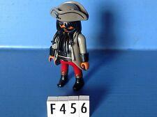 (F456) playmobil capitaine pirate barbe noire custom ref 5135 5238