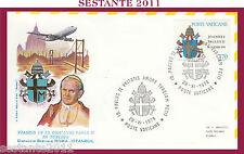 W492 VATICANO  FDC ROMA GIOVANNI PAOLO II WOJITYLA VISITA TURCHIA  ISTANBUL 1979