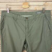 Bonobos Slim Straight Fit Mens Pants Size 36x31.5 Cotton olive