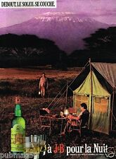 Publicité advertising 1988 Scotch Whisky J&B