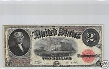 USA LEGAL TENDER $2 DOLLARS 1917 ROUGE PICK 188 !!!