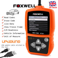 Car Fault Code Reader Engine Check OBD2 Scanner Diagnostic Tool Foxwell NT201 UK