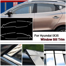 Full Window Frame Molding Sill Trim Cover Stainless Steel For Hyundai IX35