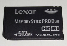 Lexar 512mb Sony PSP Memory Stick Pro Duo Memory Card Camera Memory