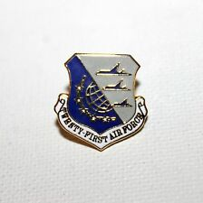 21st US AIR FORCE pin 1960s EMTF Military