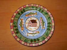 Bella Home Trends TIMBERLINE Set of 3 Salad Plates 8 1/2 Lodge Cabin