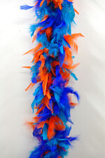 CHANDELLE FEATHER BOA - ORANGE/PURPLE/TURQUOISE 80 Gram