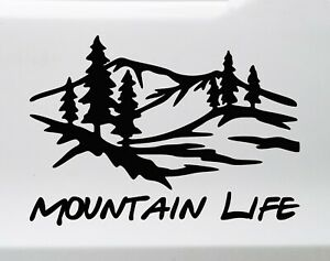 Mountain Life Vinyl Decal - Country Living - Die Cut Sticker