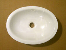 #074 SMALL BATHROOM SINK 16x11.5 MEXICAN CERAMIC HAND PAINT DROP IN UNDERMOUNT