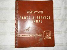 Jones and Lamson #3 Ram Type turret Lathe manual