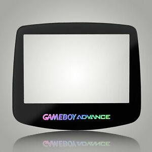 Game Boy Advance Screen Lens Glass Black GBA Nintendo Adhesive Holograph