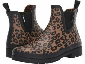 Tretorn Lina 2 Leopard Waterproof Chelsea Rubber Ankle Rain Boots Womens Size 7