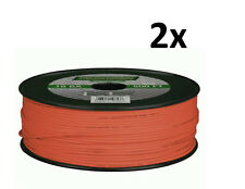 Lot of 2 METRA Install Bay 18 Gauge 500 Ft Primary wire Orange 100% OFC Copper