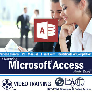 Learn Microsoft ACCESS 2013/2010 Training Tutorial DVD-ROM Course 111 Lessons