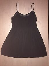 FOREVER 21 Women's Black Pinup Punk Goth Rockabilly Dress/Shirt Top Size Large