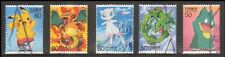 C1972 Japanese Stamps 2005 Anime Hero Episode 1 Pokemon used
