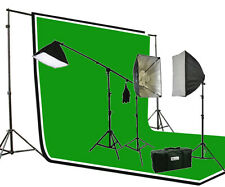 3pcs Muslin Background Support Hair Boom Stand Studio Photo Video Lighting Kit