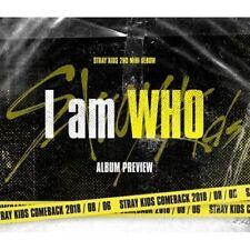 Stray Kids [I am WHO]2nd Mini Album Random CD+Poster(on)+Book+Card+etc+Pre-Order