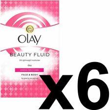 Olay Beauty Fluid Dry Moisturiser For Face & Body 200ml x 6 (Pack of 6)