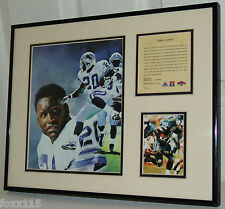 1997 Detroit Lions Barry Sanders Commemorative Lithograph & Photo #1 1/1 See Pic