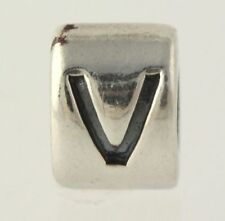 NEW Chamilia Charm - Letter Initial V Alphabet Retired Sterling Silver 925 Bead