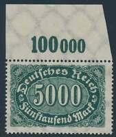 D.Reich Nr. 256 d P OR postfrisch/**, geprüft Infla (51346)