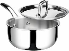 New listing Whole-Clad Tri-Ply Stainless Steel Saucepan with Lid, 3 Quart, Kitchen Induction