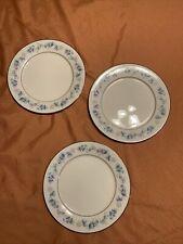"THREE Noritake Ivory China SPLENDOR 7235 Dinner Plates 10 1/2"" Blue You Buy Now"