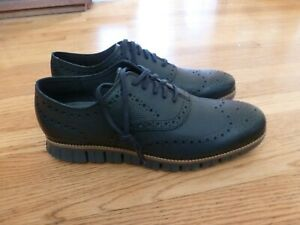 Men's Cole Haan ZEROGRAND Wing Oxfords Shoes Navy Blue 11M $185