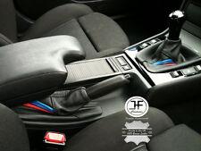 SCHWARZ LEDER SCHALTSACK HANDBREMSMANSCHETE FÜR BMW E36 E46 91-05 M3/// STREIFEN