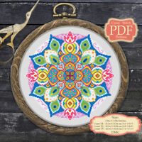 Mandala - Modern Cross stitch PDF Pattern - 040