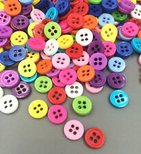 DIY 200 Pcs Random Mixed Resin 4 Holes Buttons for Sewing and Scrapbooking 8.5mm