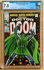Marvel Super-Heroes #20 1st Valeria 1969 Marvel CGC 7.5 OW-W Doctor Doom