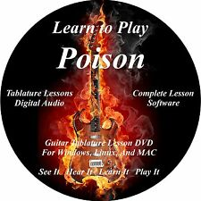 Poison Guitar TABS Lesson CD 43 Songs + Backing Tracks + BONUS!!