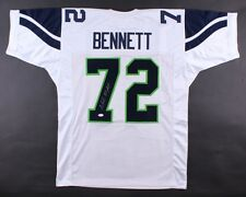 Michael Bennett Signed Seahawks Jersey (JSA) Super Bowl champion (XLVIII)