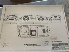 Porsche 550 Spyder 1954 Konstruktionszeichnung/ Blueprint.