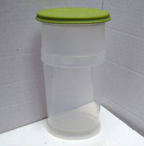 """PAMPERED CHEF #1787 FRESH HERB & ASPARAGUS KEEPER w/MEASURING CUP Plastic 9 1/2"""""""