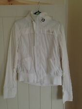 White Hooch Ladies Jacket 12 14 Light Linen Summer Holiday Casual Airport