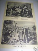 Vintage Art Original 1942 Print BRANDING SLAVES