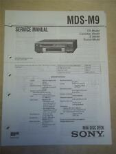 Sony Service Manual~MDS-M9 MiniDisc Deck~Original~Repair